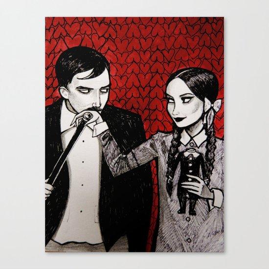 Morticia & Gomez Adams Canvas Print