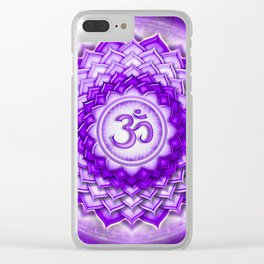 Sahasrara Chakra - Crown Chakra - Series V Clear iPhone Case