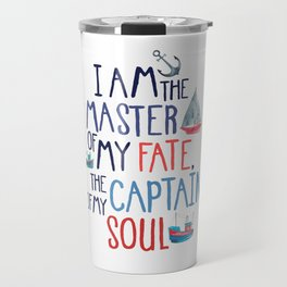 Nautical Typography Travel Mug