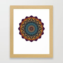 Mandala Sacred Geometry Prana Art Yoga Mantra Om Good Vibes Framed Art Print