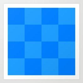 Blue 2 Tone Pattern Art Print