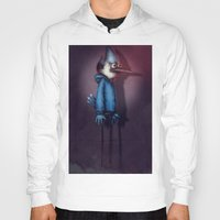 regular show Hoodies featuring Mordecai from Regular Show by Chuck Jackson