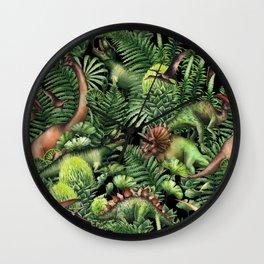 Watercolor Dinosaurs Wall Clock