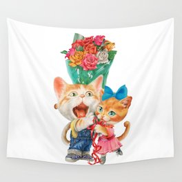 Present a bunch of roses Wall Tapestry