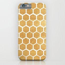 Gold honey bee iPhone Case