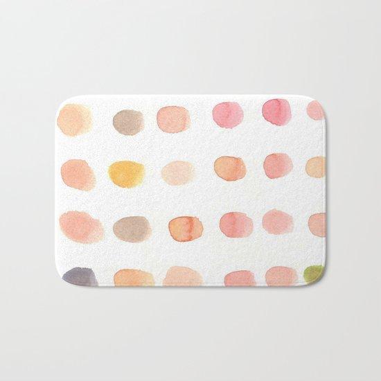 water color dot Bath Mat