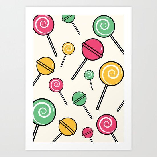 Lolli-lollipop Art Print