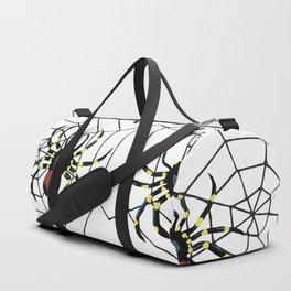 two big Spider Halloween web Duffle Bag