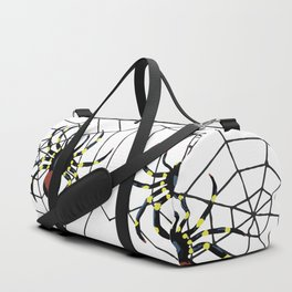 two big Spider Halloween web Duffle Bag