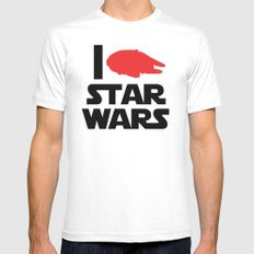 I Heart Star Wars White SMALL Mens Fitted Tee