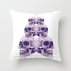 ☠ 6 skulls ☠ Throw Pillow