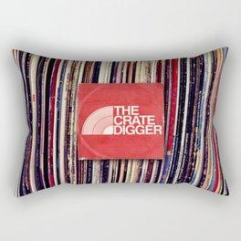 THE CRATE DIGGER FACE Rectangular Pillow