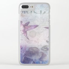 Blue Birds Clear iPhone Case