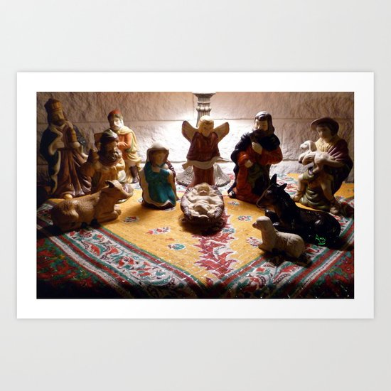 Unto us a child is born... Art Print