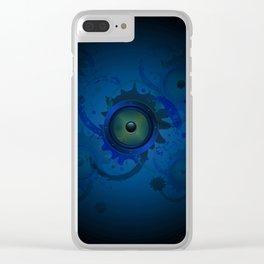Grunge loudspeaker Clear iPhone Case