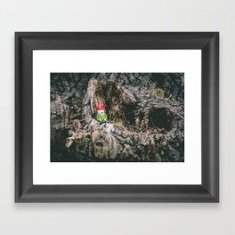 Oli the Gnome in His Summer House Framed Art Print