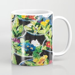 Watercolor Primroses on Wrinkled Paper Coffee Mug