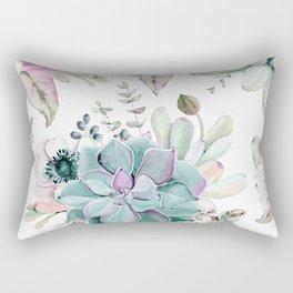 Succulent Garden Rectangular Pillow