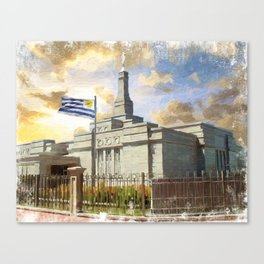 Montevideo Uruguay LDS Temple Canvas Print