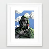 doom Framed Art Prints featuring Doom by David Comito