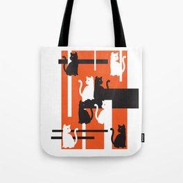 Cat in De Stijl - Halloween Edition Tote Bag