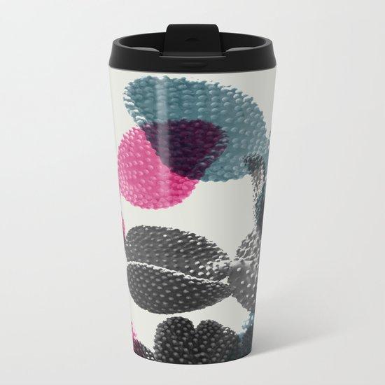 Tri-color cactus Metal Travel Mug