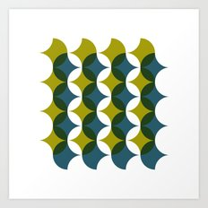#545 What is so bad about sixties wallpaper? – Geometry Daily Art Print