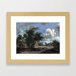 Meindert Hobbema A View on a High Road Framed Art Print