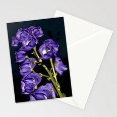 Dark Purple Elegance Stationery Cards