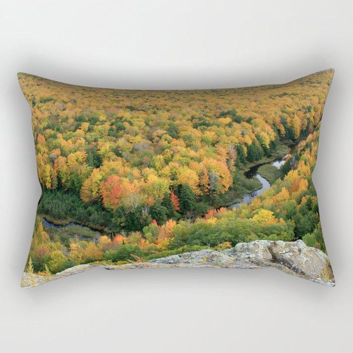 Autumn Colors at the Carp River Valley, Porcupine Mountains State Park, Upper Peninsula, MI Rectangular Pillow