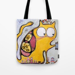 Funny cat in Moscow Tote Bag