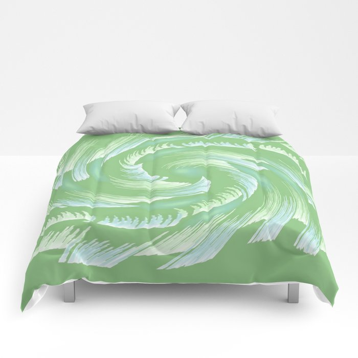 Water Swirl Abstract Comforters