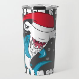 Santa Claus shark hammerhead shark cap gift Travel Mug
