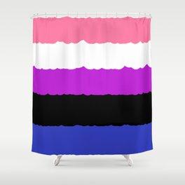Genderfluid Pride Shower Curtain