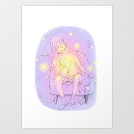 Mom's new body in love Art Print