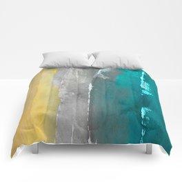 Watercolour Summer beach II Comforters