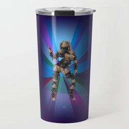 Sexy pump 3. On multicolored background (Predominance of violet) Travel Mug