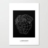 labrador Canvas Prints featuring labrador by The Paper Bag Fox