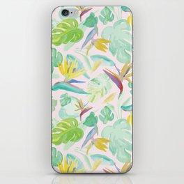 Birds of Paradise Pattern iPhone Skin