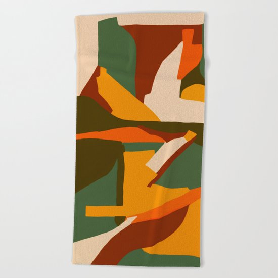 A New Way Of Seeing Abstract Landscape Beach Towel