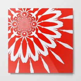 The Modern Flower red Metal Print