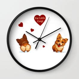 Fat Little Corgi Wall Clock