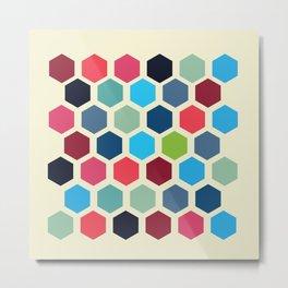 Polygone Squares Metal Print