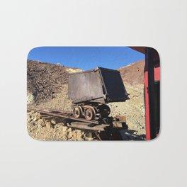 Mining Rail Car at Calico California's Ghost Town Bath Mat