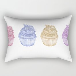 Colourful Cupcakes Rectangular Pillow