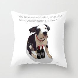 Boyd, the Sommelier Throw Pillow