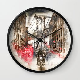 Vintage New York Streets Wall Clock