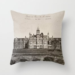 Danvers State Hospital (Danvers Lunatic Hospital), Kirkbride Throw Pillow