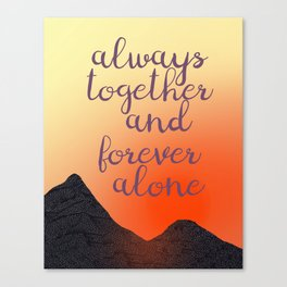 Always Together Collage Poetry Art Canvas Print