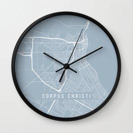 Corpus Christi Map, USA - Slate Wall Clock